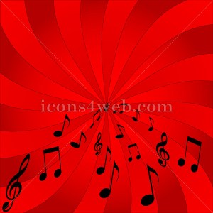 Music background. Music notes abstract background - Icons for your website