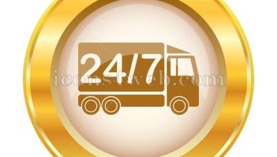 24 7 Golden Button