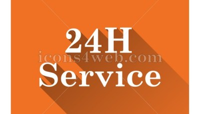 Customer service flat icon with long shadow vector - web icon