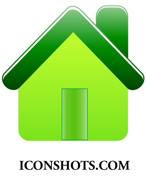 How to create green house icon