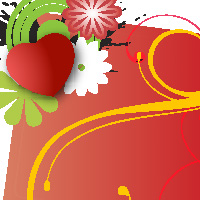 iconshots.com floral valentine card