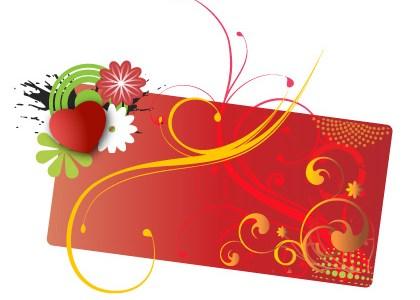 Floral valentine card