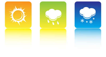 Weather symbols vector graphic