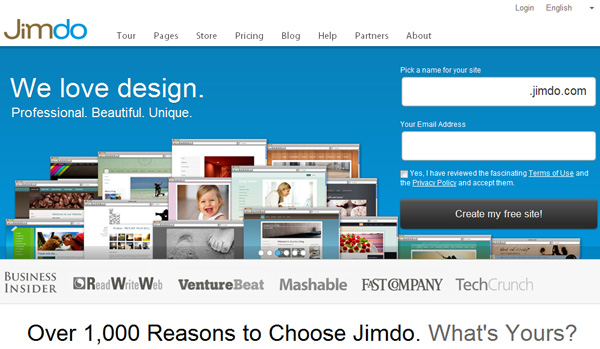 Jimbo free website builder