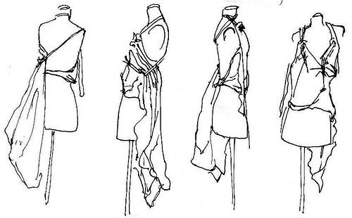 2 mannequin sketches