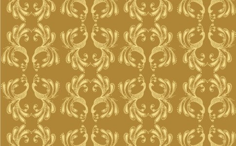 Golden Bird Pattern