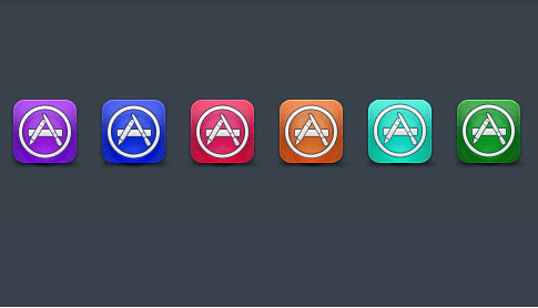 Appstore PSD Icon