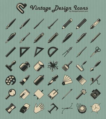 Vintage design icons