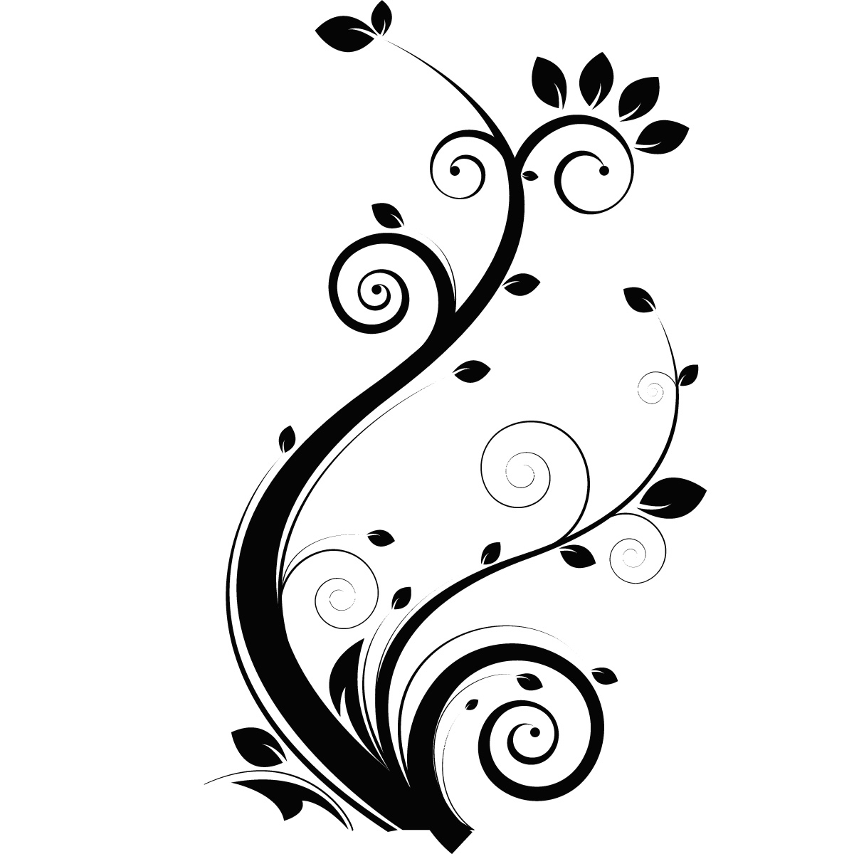 Floral Leaves Flowers Wall Art Stickers Wall Decal
