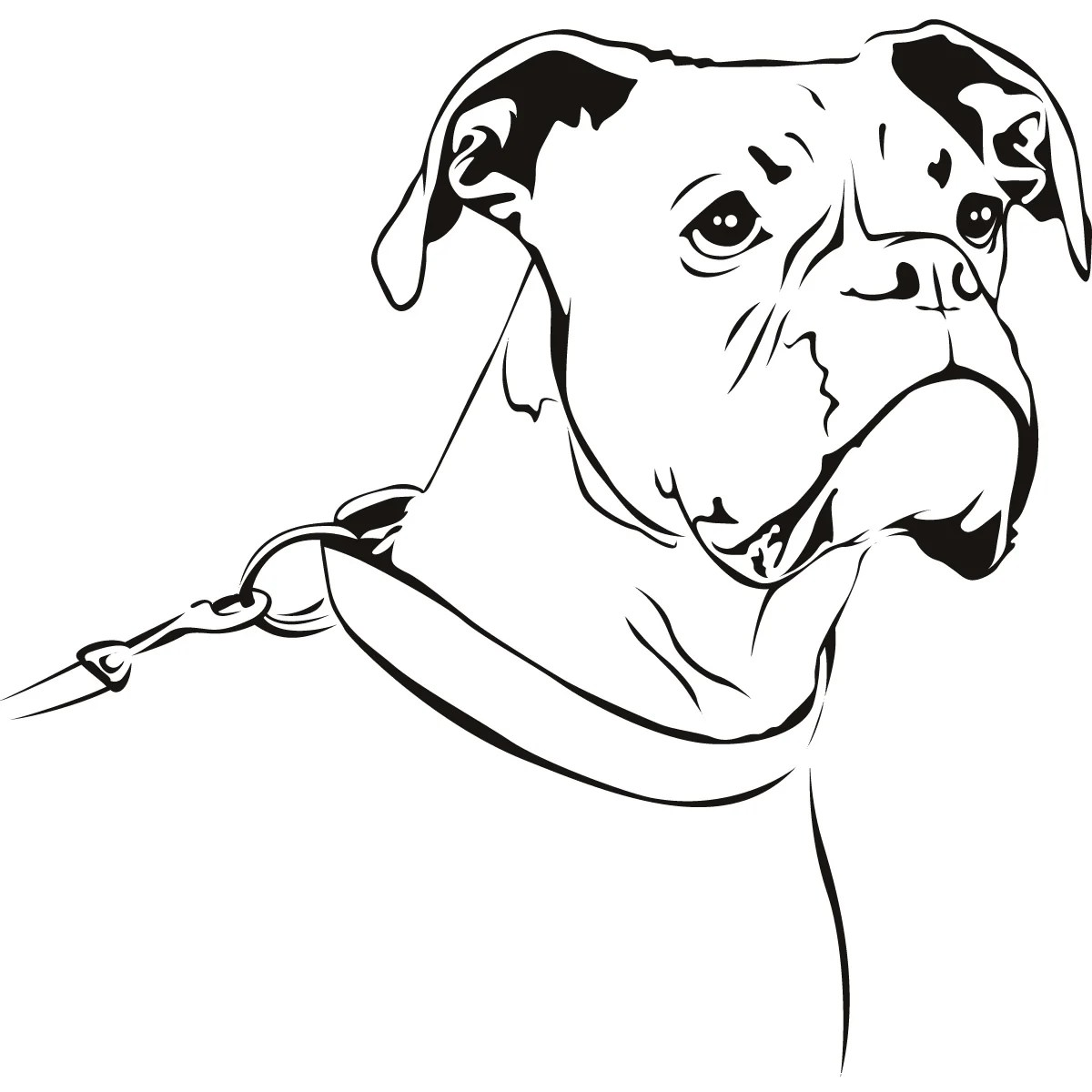 Boxer Dog Coloring Pages Print