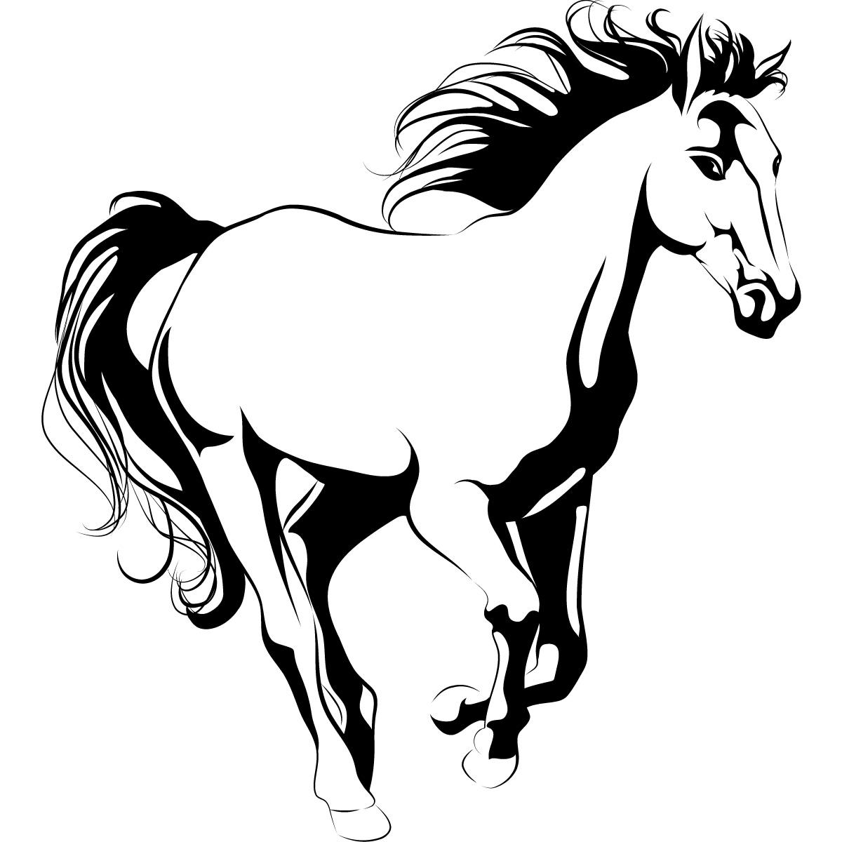 Running Horse Animals Wall Art Sticker Decal Transfers