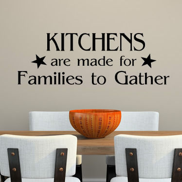 Kitchens Made Families Gather Quote Wall Stickers Art Decal