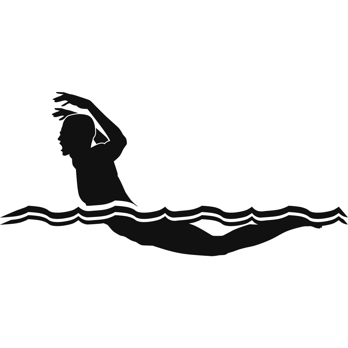 Silhouette Swimmer Butterfly Pictures To Pin