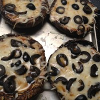 Portobello Cap Pizzas-- South Beach Phase 1 Lunch