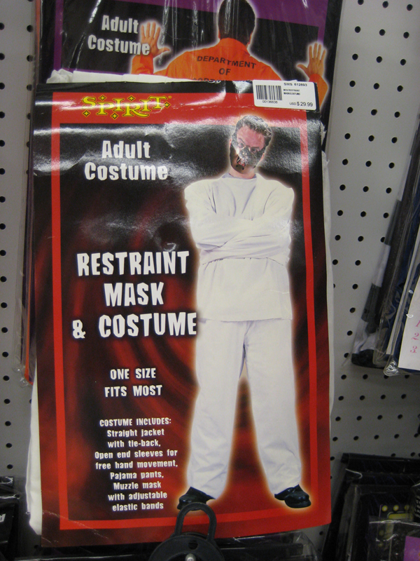 restraint mask and costume