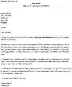 Fast Online Help Cover Letter For Entry Level Database - Db administrator cover letter