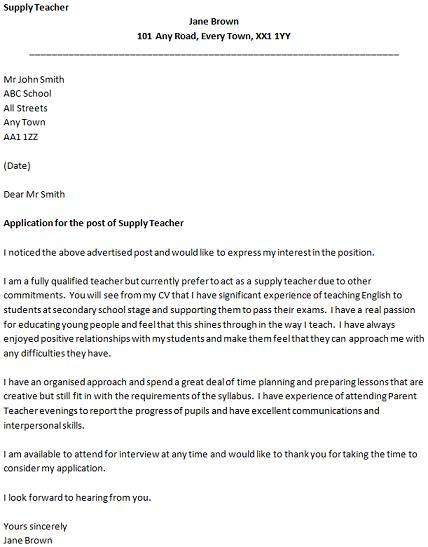 Cover Letter Teaching Position Sample Letter of Interest for Teaching for Teaching Job Cover Letter