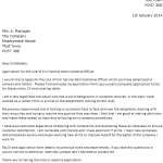 Civil Service Administrative Officer Cover Letter Example