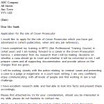 Crown Prosecutor Cover Letter Example