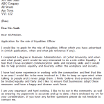 Equalities Officer Cover Letter Example