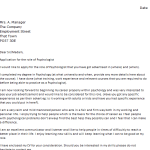 Psychologist Cover Letter Example