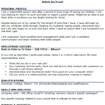 CV Example for Stay at Home Mom