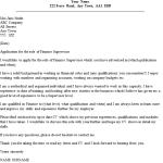 Finance Supervisor Cover Letter Example