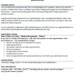 Medical Receptionist CV Example