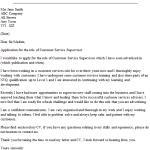 Customer Service Supervisor Cover Letter Example