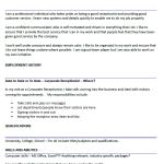 Corporate Receptionist CV Example