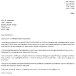 Follow Up Letter Example After Job Application