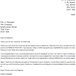 Follow Up Letter Example – Rejected by Company