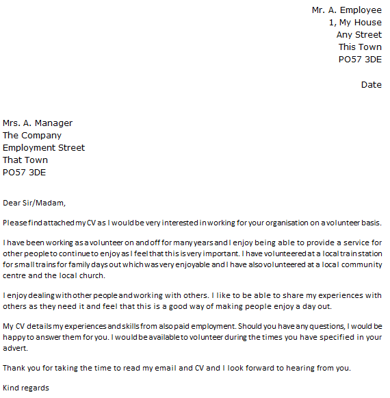 Volunteer Teaching Assistant Cover Letter: Sample Email Message