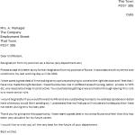 Nurse Resignation Letter Example