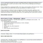 Administrator CV Example