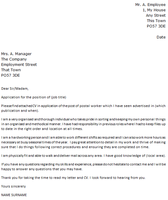 royal mail cover letter example icover org uk