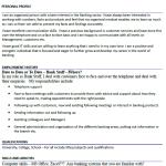 Bank Staff CV Example