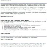 Registered Nurse CV Example