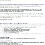 HR Coordinator CV Example