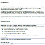 Transport Manager CV Example
