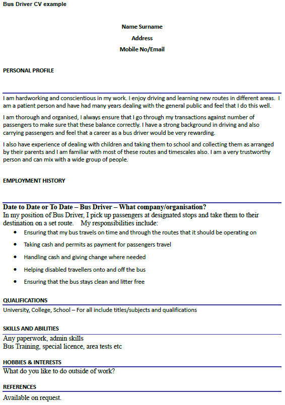 Bus Driver Cover Letter Sample Job And Resume Template School