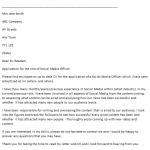 Social Media Officer Cover Letter Example