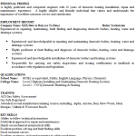 Boiler Technician CV Example