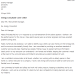 Energy Consultant Cover Letter Example