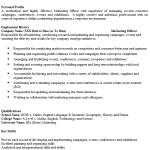 Marketing Officer CV Example