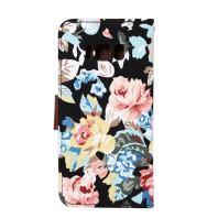 Black Cotton Print Texture Leather Wallet Samsung Galaxy S8 Plus Case 3