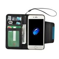 Black Detachable Horizontal Flip Leather Wallet iPhone 7 Case