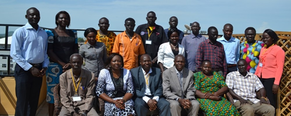 Participants at the national workshop for creating a community-based grassroot disease reporting system for South Sudan at James Hotel, Juba, 4-5 June 2015