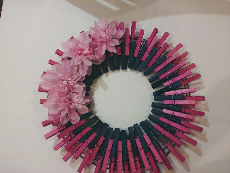 Spring 105 Clothespins Wreath Decor By Diy Crafts With Friends