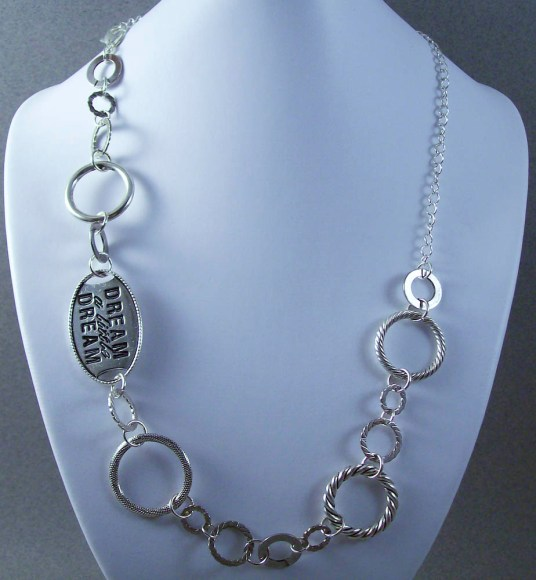 Steampunk Metal Linked Necklace